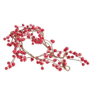 Guirlande de baies rouges en plastique 150 cm