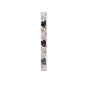 Boules de verre déco multicolores x 9 en mix Ø 3 cm