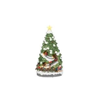 Sapin de Noël Christmas tree express vert à batterie H 38,5 x Ø 21 cm