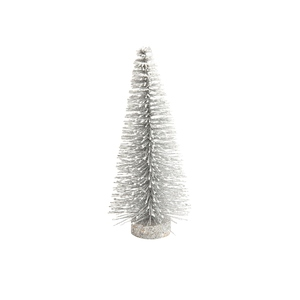 Sapin en plastique blanc neige 13 cm