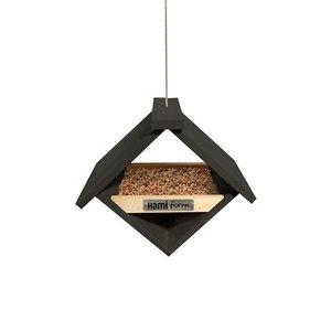 Mangeoire kyva noire en bois 23 x 17 x 20 cm 695036