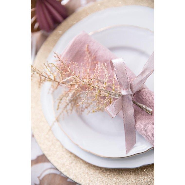 Assiette plate Alba en porcelaine blanc et or Ø 26,5cm 622844