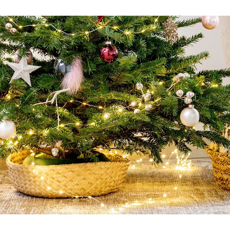 Ornement de Noël à suspendre en forme de goutte avec plume rose 622957