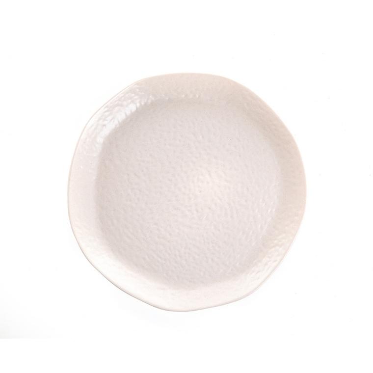 Assiette plate en grès beige Ø 27 cm 623948