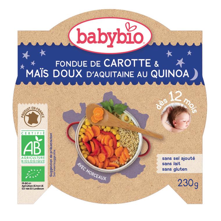Mon Assiette Ptits légumes au Quinoa bio 230 g BABYBIO 624914