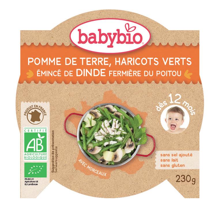 Menu du jour Légumes Dinde bio 230 g BABYBIO 624915