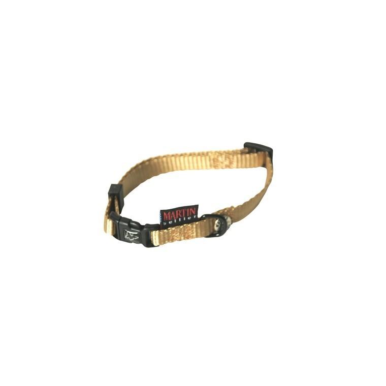 Collier chien réglable 10mm / 25-35cm beige 626669