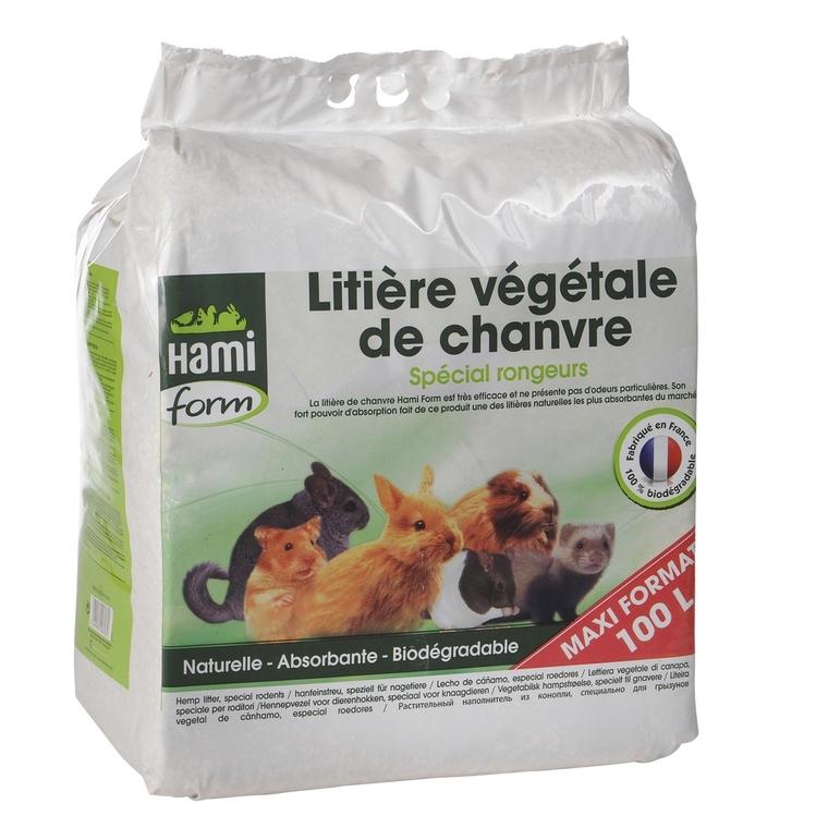 Litière végétale de chanvre pour rongeur 10 kg 626942