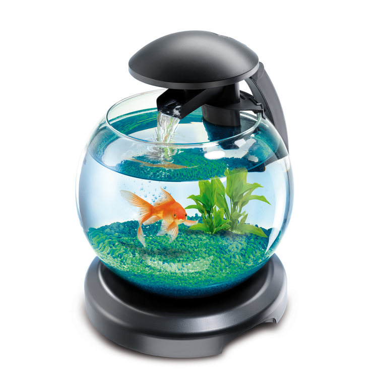 Aquarium avec cascade tetra globe noir Ø 27 cm 62710