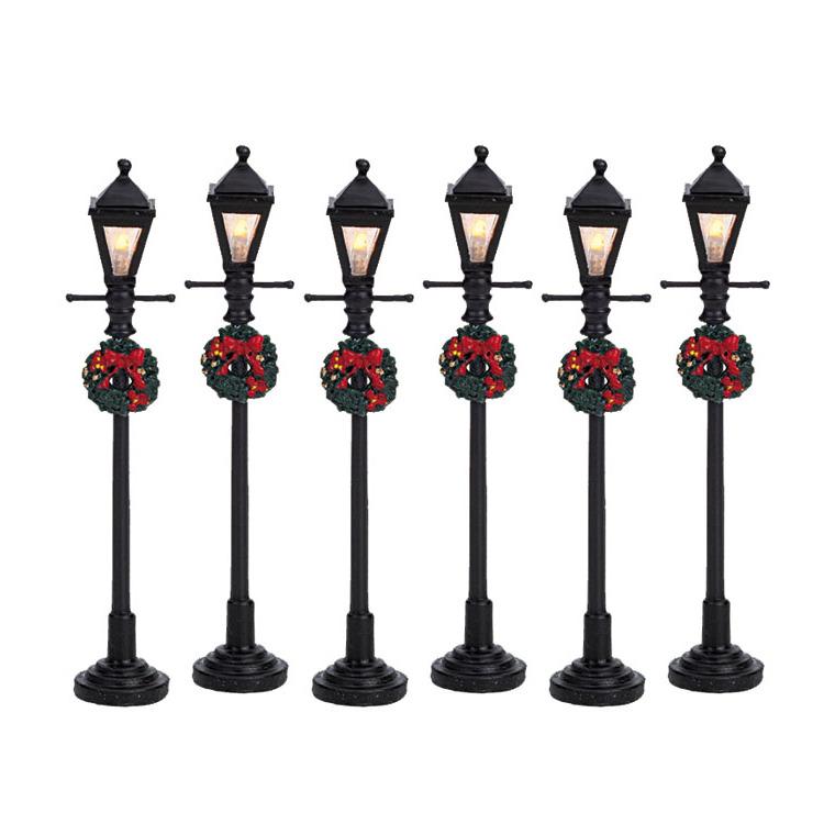 Ensemble de 6 lanternes à gaz illuminées 12 x 1.5 x 10.5 cm 627602