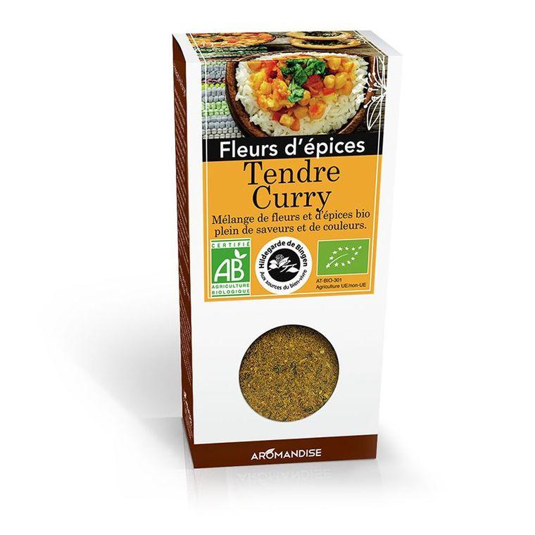 Fleurs d'épices pour tendre curry bio en boite marron de 40 g 630255