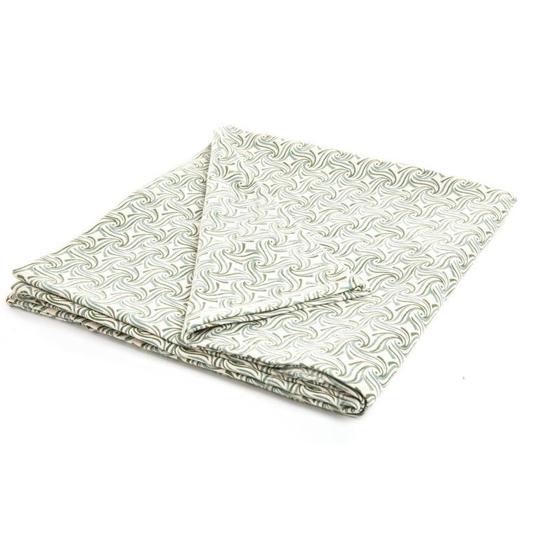 Nappe Berryl en coton coloris lichen 150 x 250 cm 635344