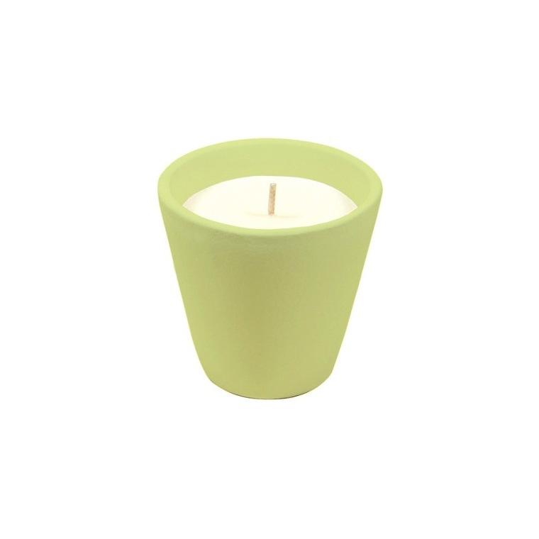 Bougie à la citronnelle dans bol terre cuite vert PANTONE 13-053 Amazon 80X82 659219
