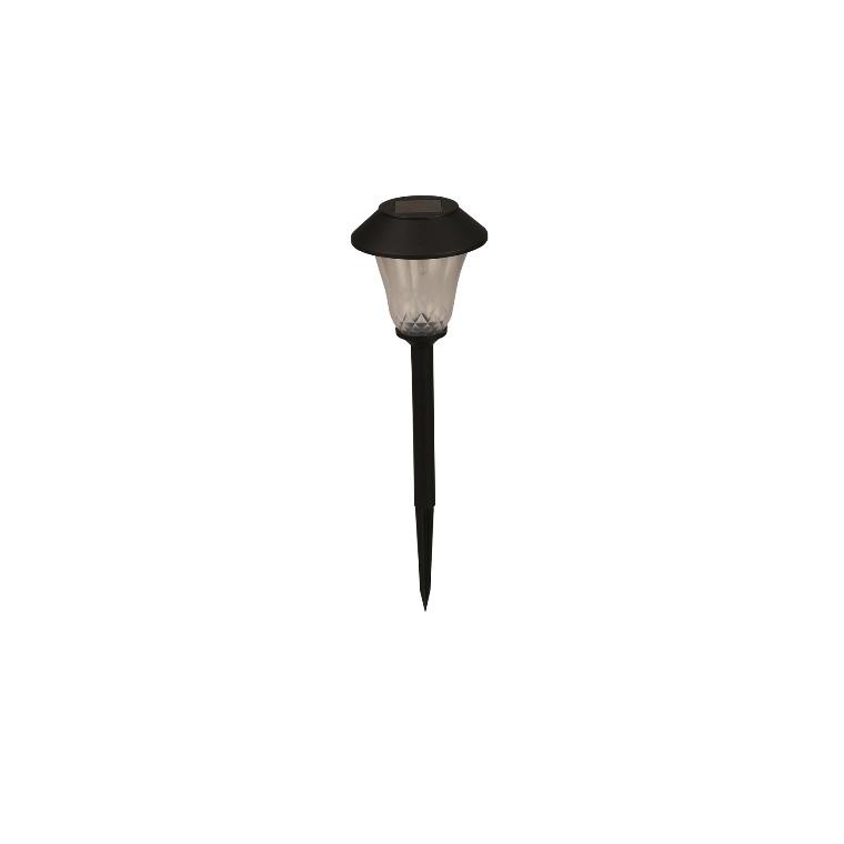 Borne solaire St Tropez noire à LED blanc chaud Ø 12 x H 42 cm 659322