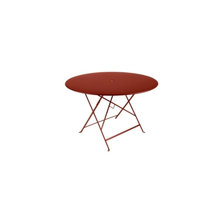 Table Pliante Bistro FERMOB ocre rouge Ø117xh74 659354