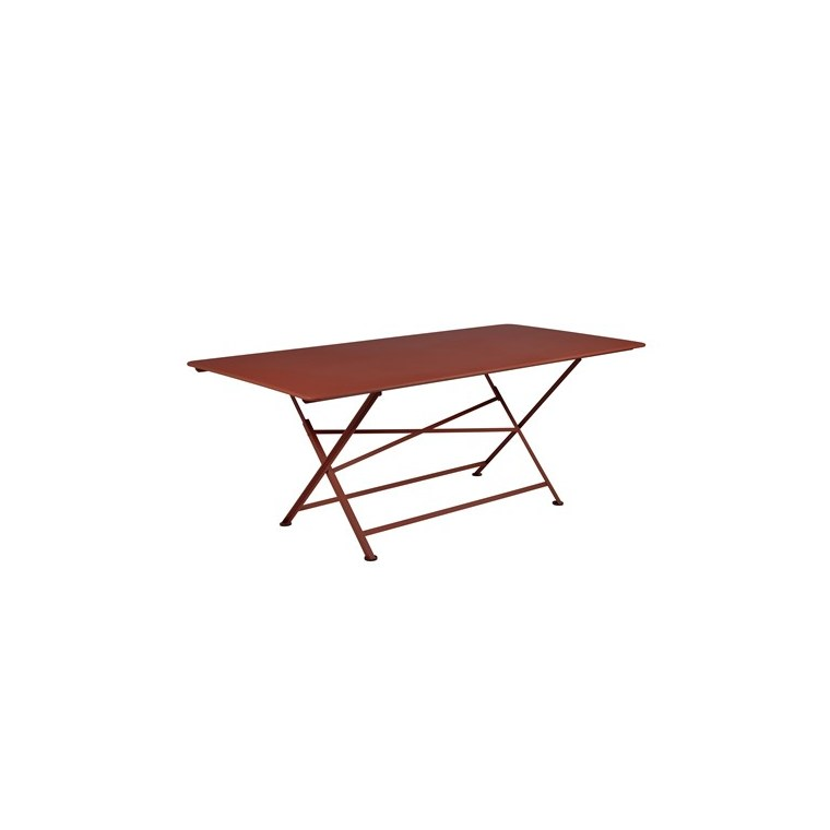 Table pliante Cargo FERMOB rouge ocre L190xl90xh74 659372