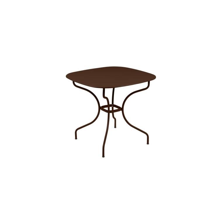 Table Opéra + FERMOB rouille L82xl82xh74 659429