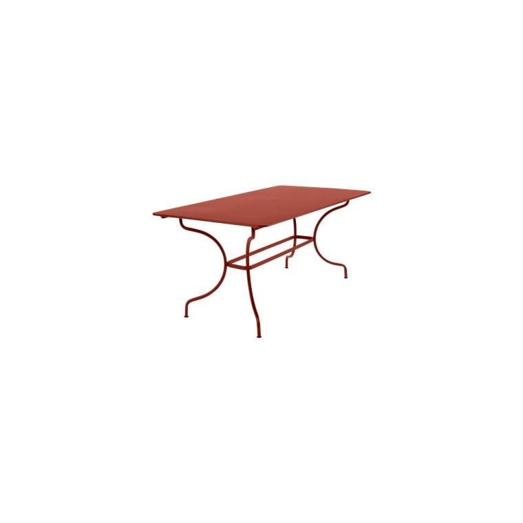 Table Manosque FERMOB ocre rouge L160xl90xh74 659465