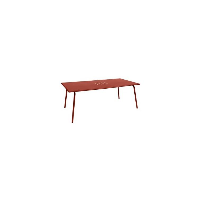 Table Monceau XL FERMOB ocre rouge L194Xl94Xh74 659525