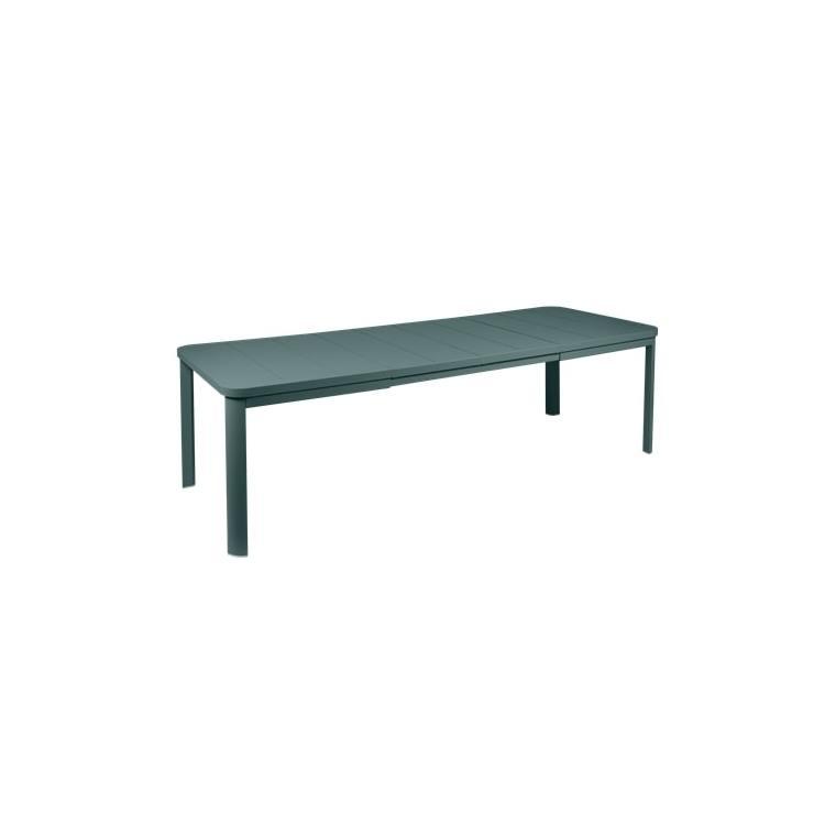 Table Oléron gris orage et ses 2 allonges 659543