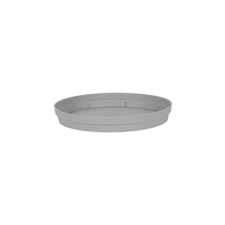 Soucoupe Toscane en polypropylène coloris gris béton Ø 54 x 7,5 cm 659733