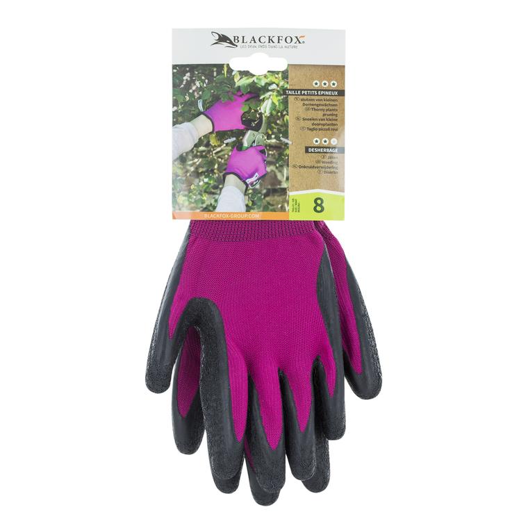 Gant aubépine enduit de latex coloris rose de taille 8 659744