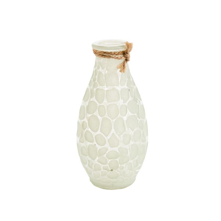 Vase soliflore en forme de bouteille couleurs assorties Ø 7 x H 14 cm 660360