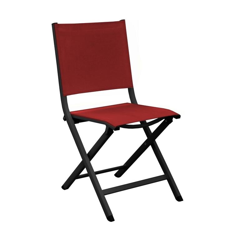 Chaise pliante Max en aluminium rouge 90 x 45 x 52 cm 661791