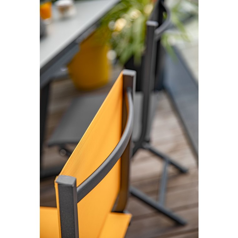 Chaise pliante max en aluminium jaune 90 x 45 x 52 cm Chaise pliante aluminium