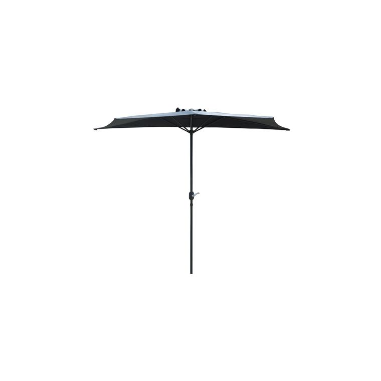 Demi-parasol couleur gris - Ø 3 m 661801