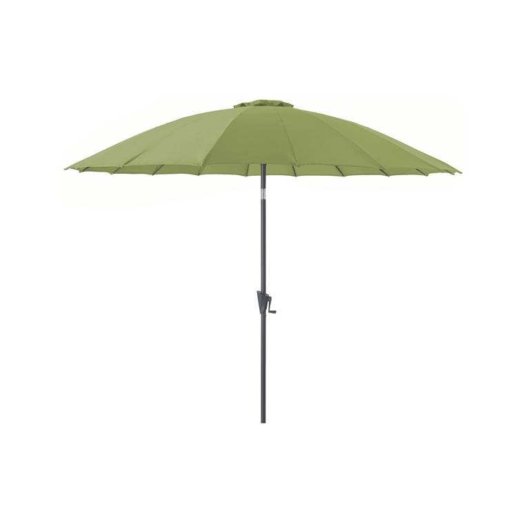 Parasol Pagode à manivelle couleur olive - Ø 3 m 661815