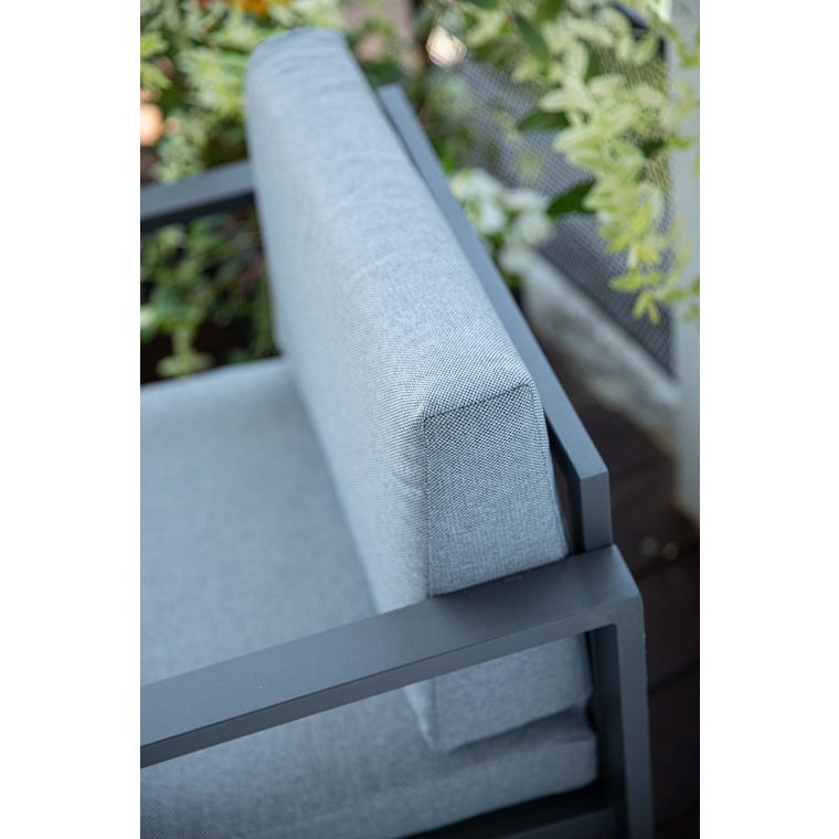 Set d'extérieur Mori en aluminium coloris gris 661817