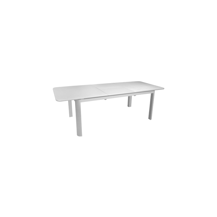 Table Oro blanche en aluminium - 180/240x100 cm 661824