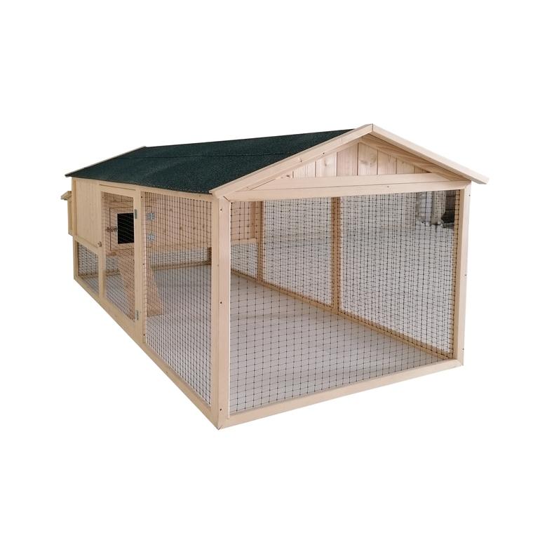 Poulailler Lana de 3 m² en bois avec enclos 663326