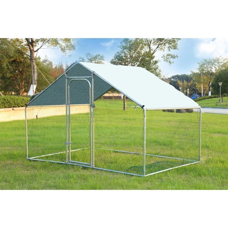 Enclos run volailles gris de 6 m² 663619