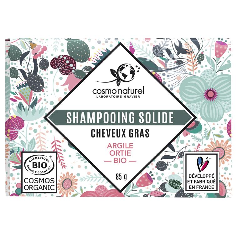 Shampoing solide Cheveux gras Étui 85 g vert 676679