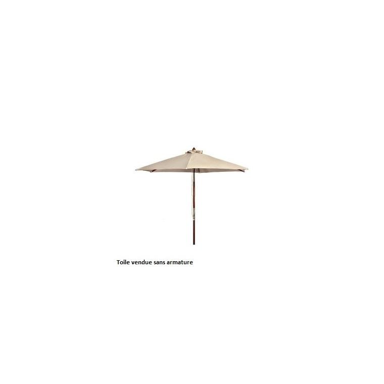 toile de parasol blanche d300cm botanic. Black Bedroom Furniture Sets. Home Design Ideas