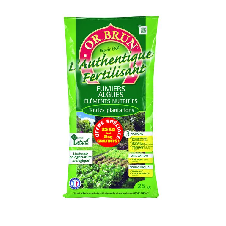 Fertilisant Or Brun Authentique 25 kg