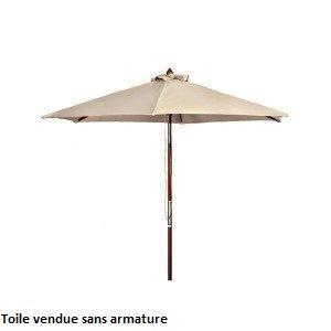 Toile pour parasol 8 baleines blanche D 350 cm