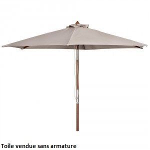 toile pour parasol 8 baleines taupe d 350 cm botanic. Black Bedroom Furniture Sets. Home Design Ideas