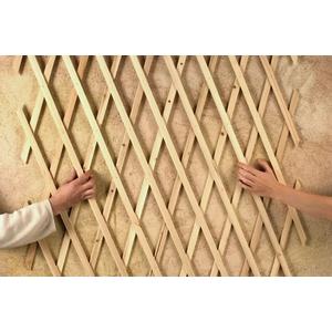 Treillis extérieur Treilliwood, en bois naturel, 50 x 150 cm