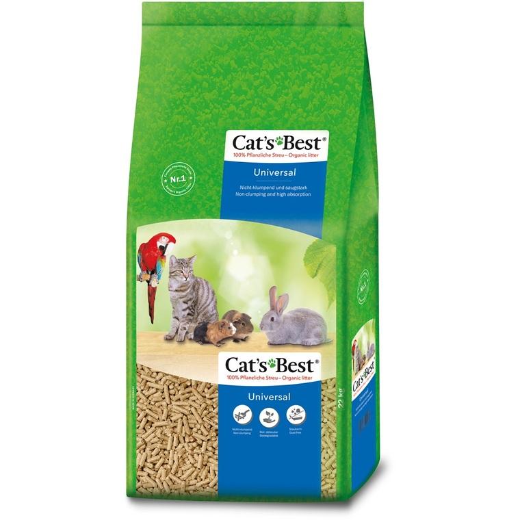 Litiere granules vegetaux pour chat, oiseau et rongeur Cat's Best Universal 40 l 73786