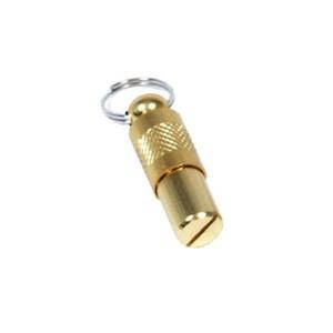 Tube adresse en métal doré pour chien et chat