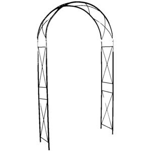 Arche double avec décor losange, coloris vert sapin  H.250cm