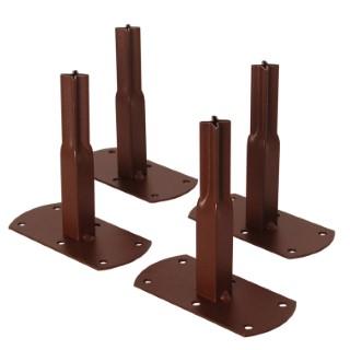 Pack de 4 pieds fix carrés pour arche 81726