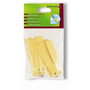 Étiquette à suspendre coloris jaune 822537