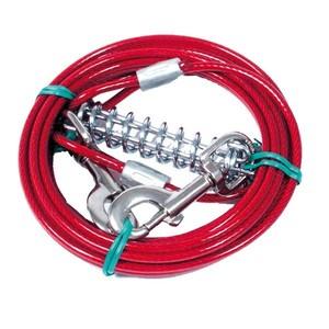 Câble d'attache chien rouge 6m Martin Sellier 836450