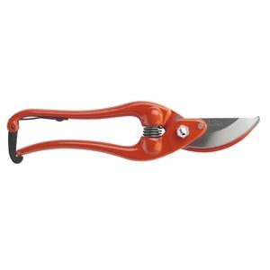 Sécateur professionnel fer forgé et tête large orange - 23 cm 86045