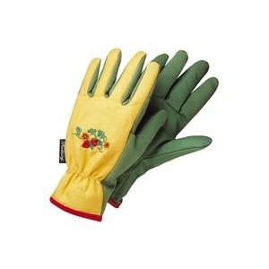 gants de jardinage femme broderie fleurs et fraises t 6 botanic. Black Bedroom Furniture Sets. Home Design Ideas