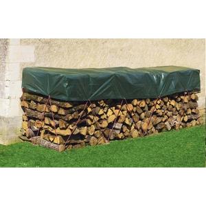 Bâche tas de bois coloris vert 1,50x6 m 887494